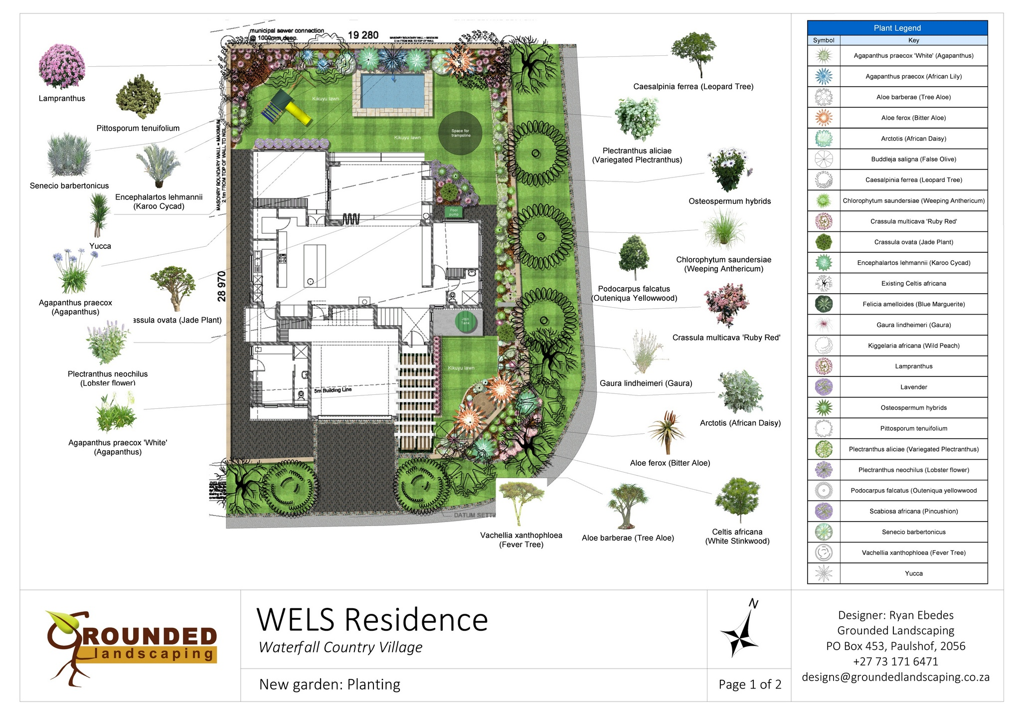 WELS Residence - Landscaping & irrigation in Waterfall Country ...